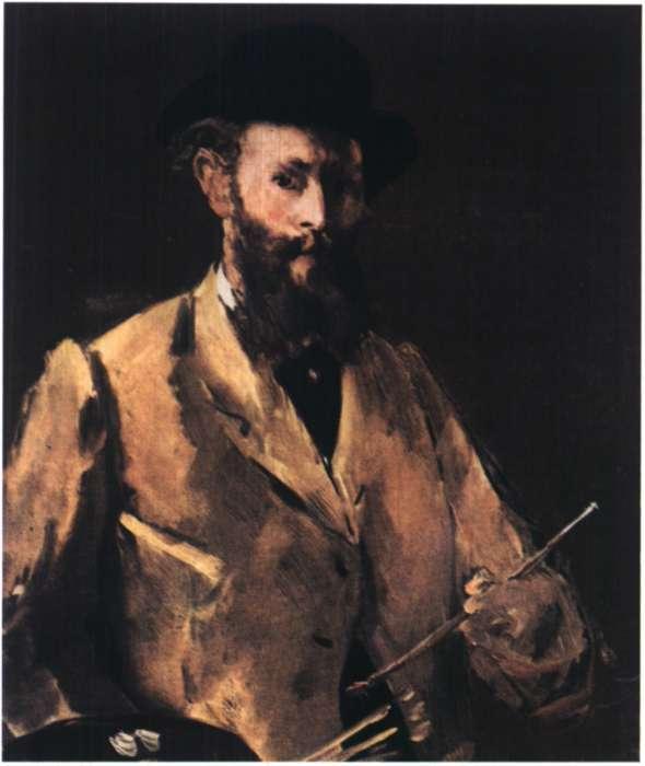 Ο Γάλλος ζωγράφος Εντουάρ Μανέ. Αυτοπροσωπογραφία. 1879 (Νέα Υόρκη. Ιδιωτική Συλλογή).