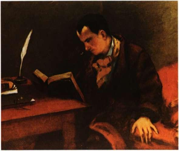 Σαρλ Μπωντλαϊρ. Γάλλος ποιητής, πεζογράφος και θεωρητικός της τέχνης. Ελαιογραφία του G. Courbet.