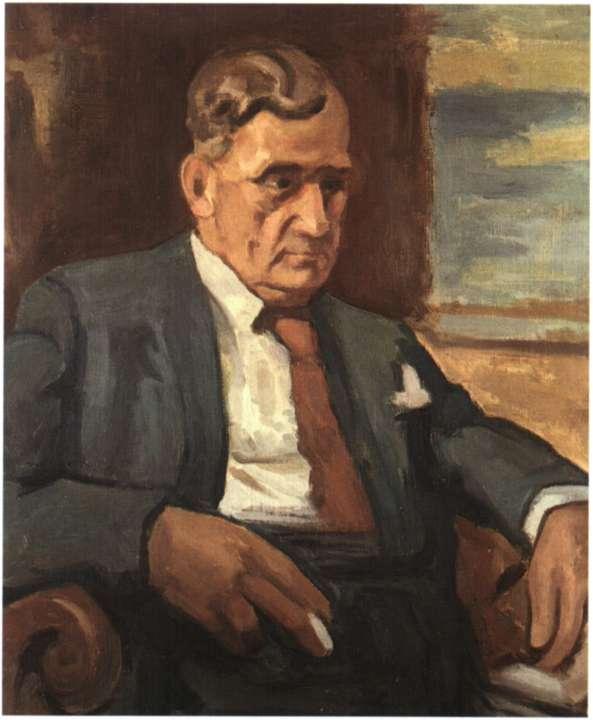 Ο ηθοποιός του θεάτρου Χριστόφορος Νέζερ. Ελαιογραφία του Θ. Λαζαρή (Αθήνα, Θεατρικό Μουσείο).