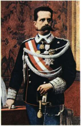 Ουμβέρτος Α '. Βασιλιάς της Ιταλίας (1878 - 1900). Ελαιογραφία (Τορίνο, Museo del Risorgimento).