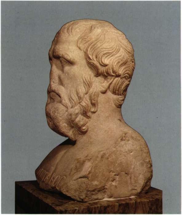 Πιττακός ο Μυτιληναίος. Πολιτικός ηγέτης της Μυτιλήνης, ένας από τους επτά σοφούς της αρχαίας Ελλάδας. Ενεπίγραφη προτομή, η μοναδική που σώθηκε (Παρίσι, Musee du Louvre).