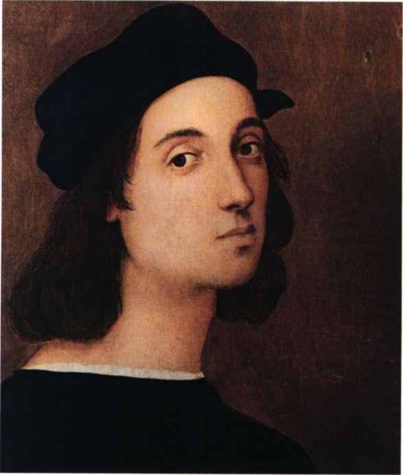 Ο Ιταλός ζωγράφος και αρχιτέκτονας Ραφαήλ. Αυτοπροσωπογραφία, 1506 (Φλωρεντία, Galleria deggli Uffizi).