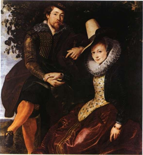 Πήτερ Πάουλ Ρούμπενς, Ο σημαντικότερος ζωγράφος της Φλάνδρας και ο τυπικότερος εκπρόσωπος του ευρωπαϊκού μπαρόκ. Αυτοπροσωπογραφία με τη γυναίκα του (Μόναχο, Alte Pinakothek).