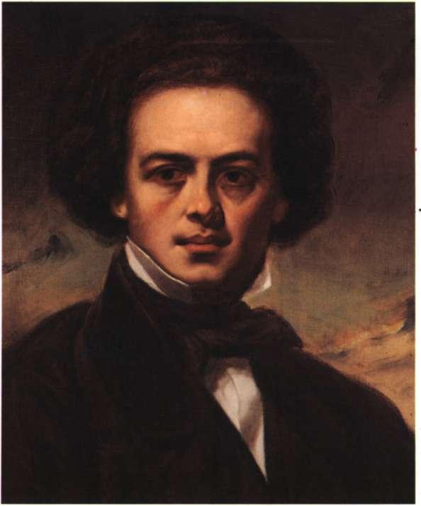 Ρόμπερτ Σούμαν. Γερμανός συνθέτης, ο κυριότερος εκπρόσωπος του ρομαντισμού. Ελαιογραφία (Μιλάνο, Museo Teatrale alla Scala).
