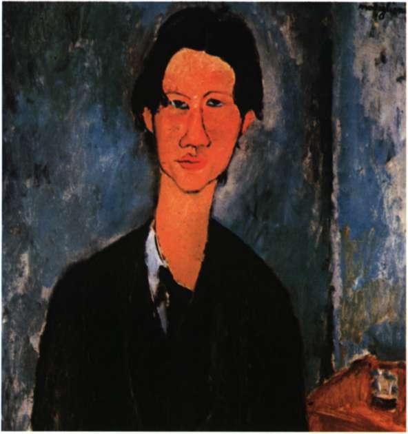 Χαΐμ Σουτίν. Γάλλος ζωγράφος, από τους σημαντικότερους εκπροσώπους του ευρωπαϊκού εξπρεσιονισμού. Ελαιογραφία του Α. Modigliani, 1917 (Ουάσινγκτον, National Gallery of Art).