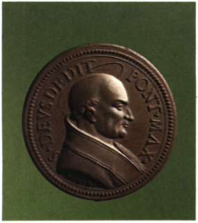 Ο πάπας Αδεοδάτος Α'. Μετάλλιο (Βατικανό, Biblioteca Apostolica Va- ticana).