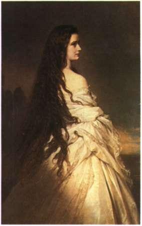 Η αυτοκράτειρα της Αυστρίας Ελισάβετ. Έργο του Franz Xaver Winter- halter (Βιέννη, Kunsthistorisches Museum).