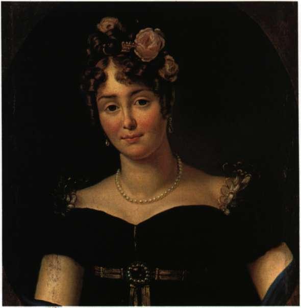 Η Πολωνίδα κόμιοσα Μαρή Βαλέβσκα. Ελαιογραφία του F. Gerard (Βαρσοβία. Εθνικό Μουσείο).