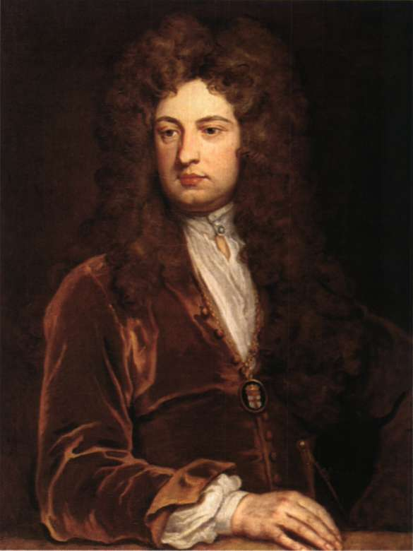 Σερ Τζων Βάνμπρω. Αγγλος αρχιτέκτονας και θεατρικός συγγραφέας. Ελαιογραφία του G. Kneller (Λονδίνο, National Portrait Gallery).