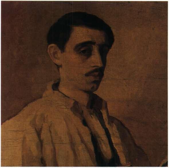 Ο ζωγράφος Περικλής Βυζάντιος. Αυτοπροσωπογραφία (Αθήνα, Συλλογή Μ. Λιακοπούλου).